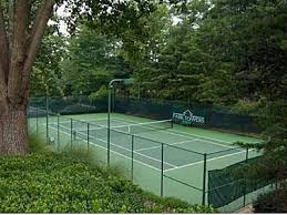 Lightened Tennis Courts