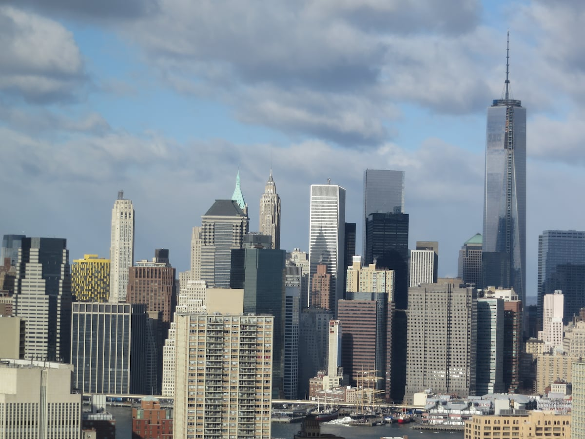 Jaw-dropping views of downtown Manhattan, including the new World Trade Centre!