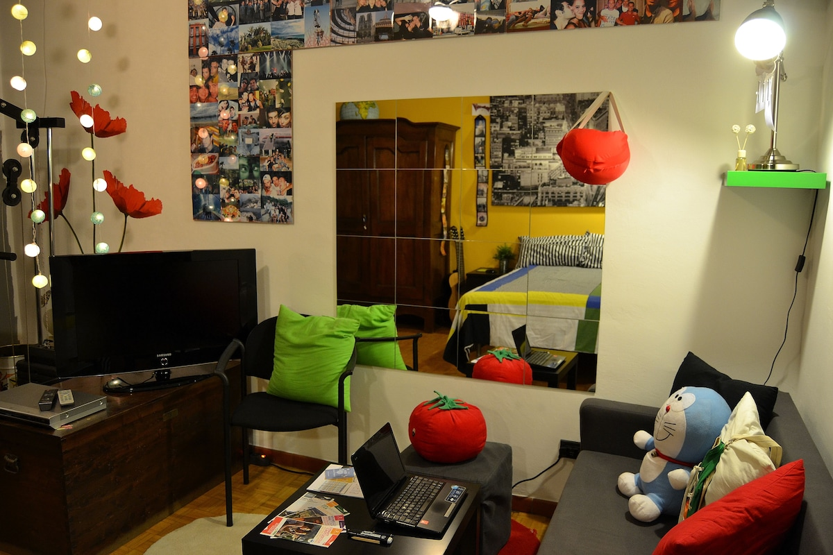 "Small Sofa and TV 32"" in Your Room"
