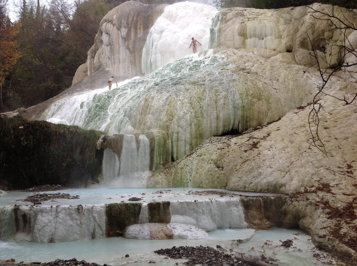 Terme libere in Val D'Orcia