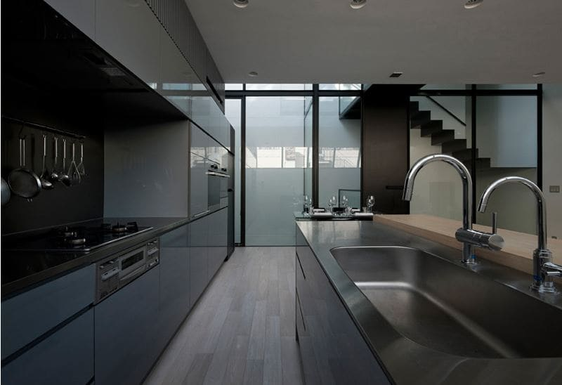 Kitchen is fitted with top quality appliances from Miele, also a built in Eurocave wine celllar.