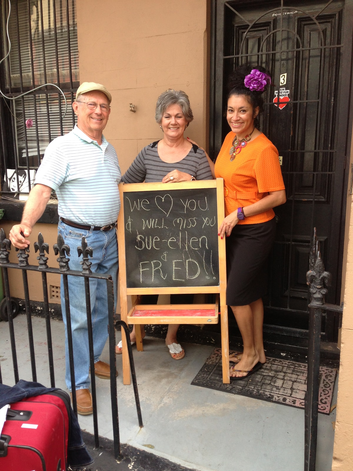 We just looooved our Texan friends Sue-Ellen and Fred!  :)