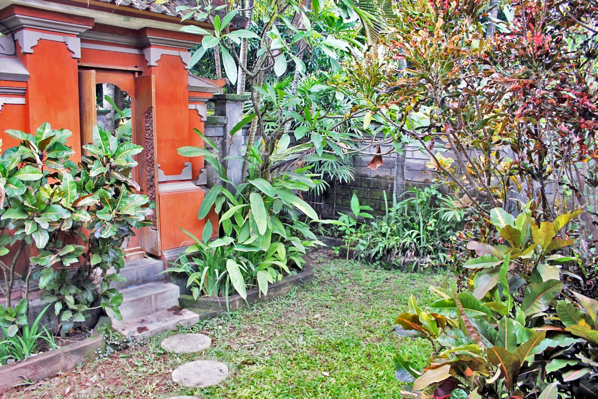 Large Private Tropical Garden with High 2.5 meter privacy walls. Balinese Style entrance.