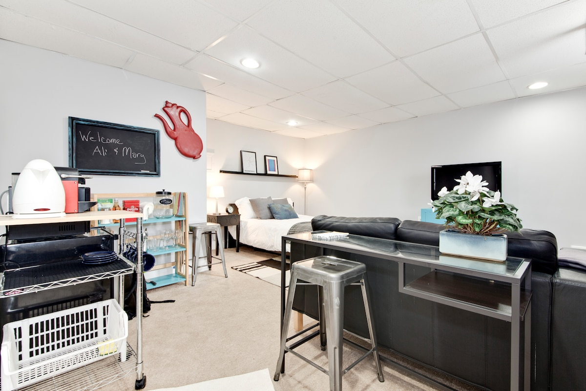 Private suite, stylish DC row house