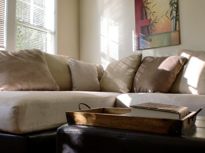 Part of the couch...