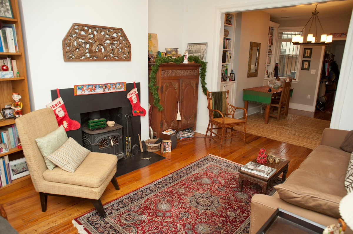 Living room ready for the holidays!