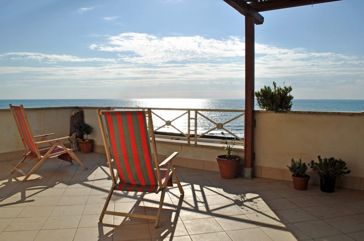 Mediterranean sea: view from the terrace