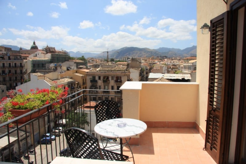 A terrace on the roofs of Palermo