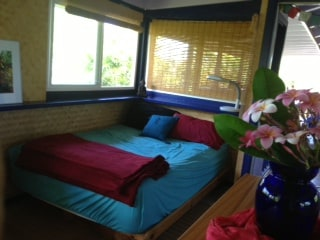 Bamboo room, lots of light and windows, great views of tropical landscape, private entrance.