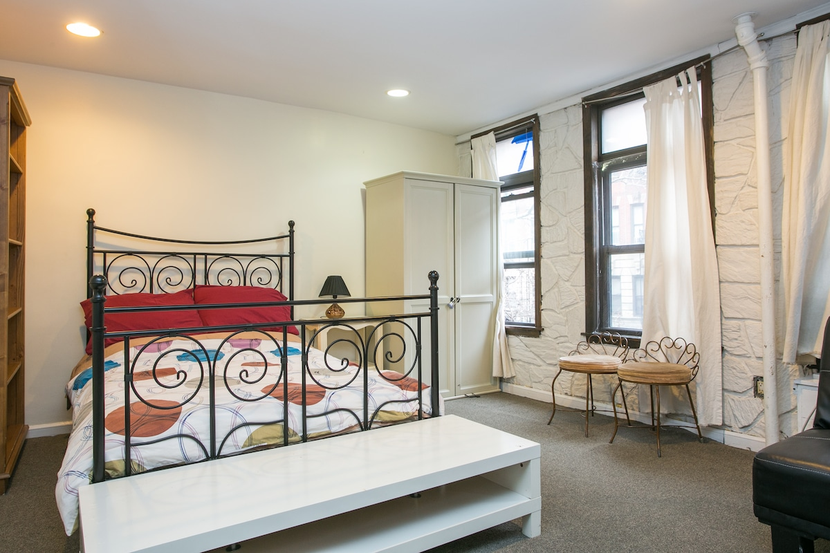 Studio in East village/own bath!