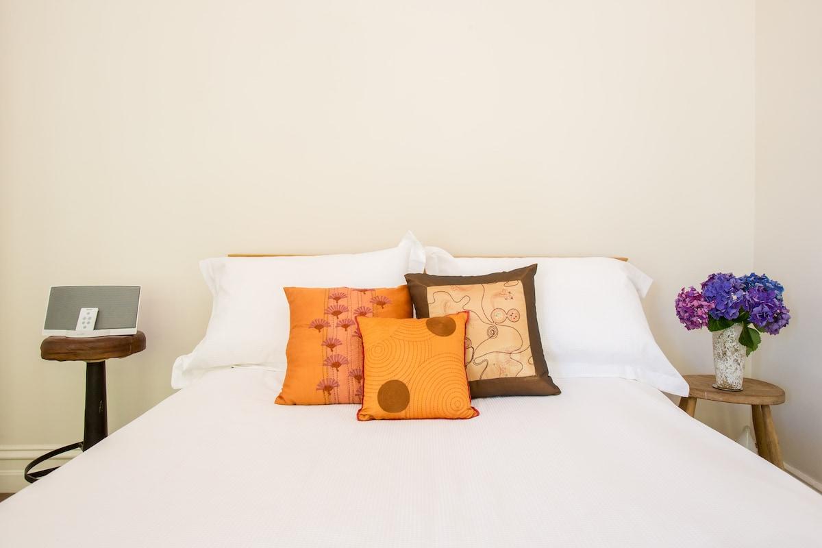 Easy space to unwind and sleep.