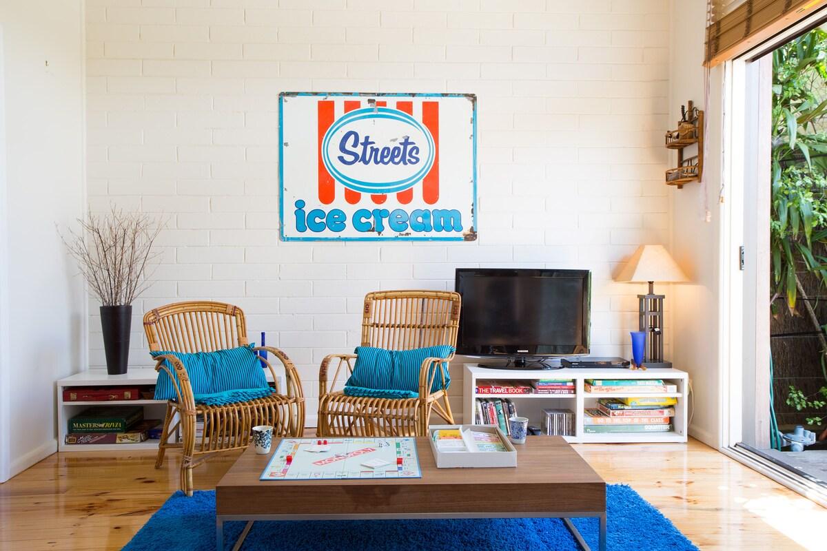 Cute designer beach house