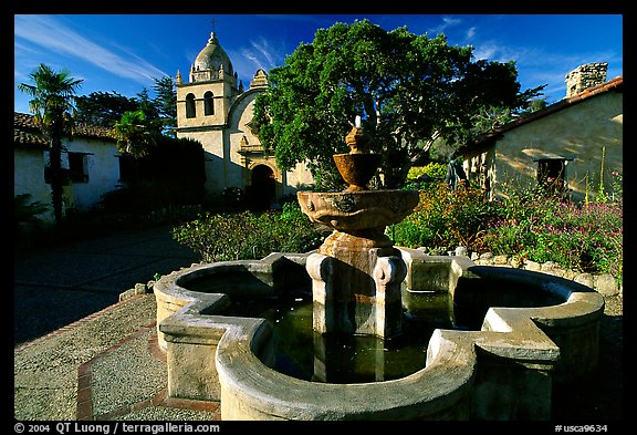 Carmel Mission, right around from our the Carmel Charmer House. You will hear the Mission Bells ring!
