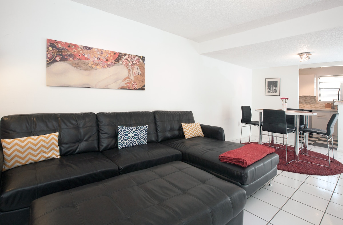 Large Brand New Couch - Sleeps 2  & Flat Screen TV With Cable of Course