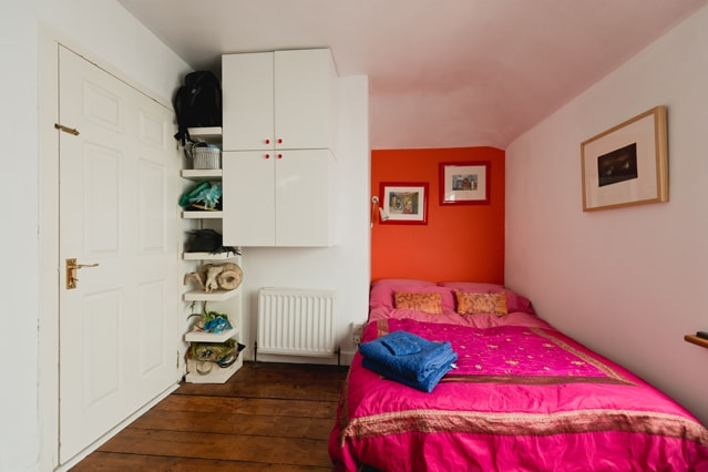 Guest bedroom  with comfortable double bed