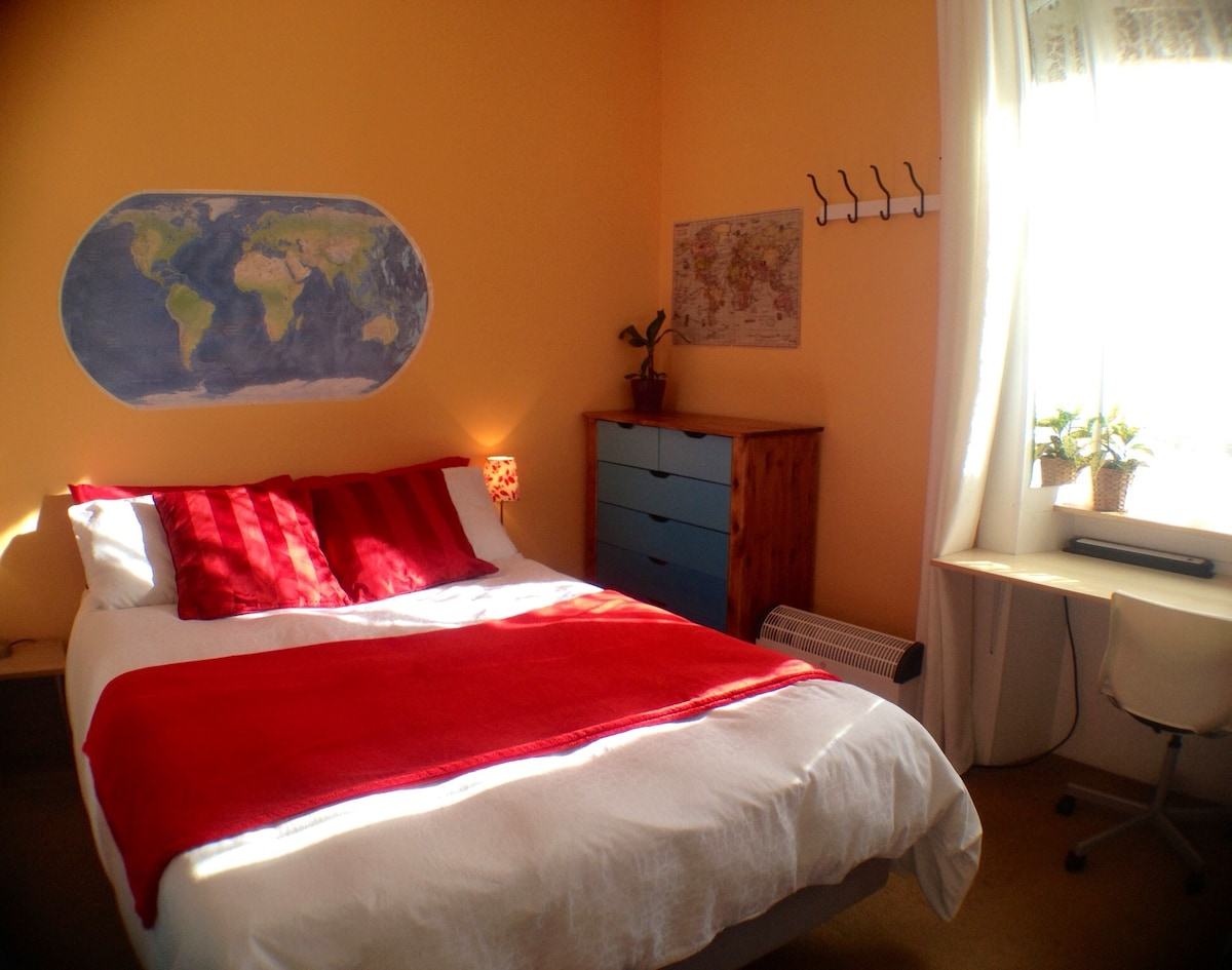 Lovely, bright, cheerful room- just been decorated in January 2014.