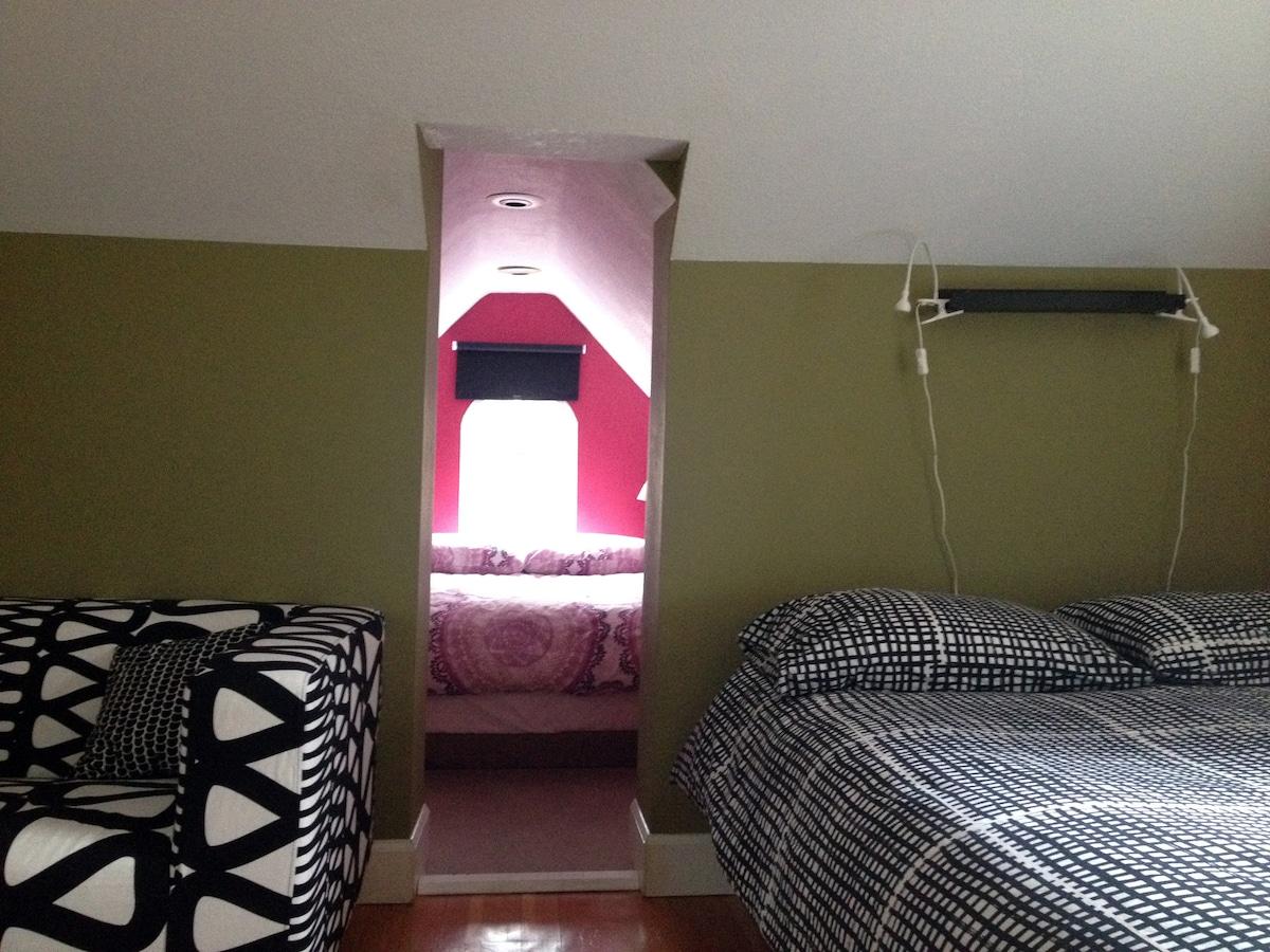 Dormer bedroom entrance.