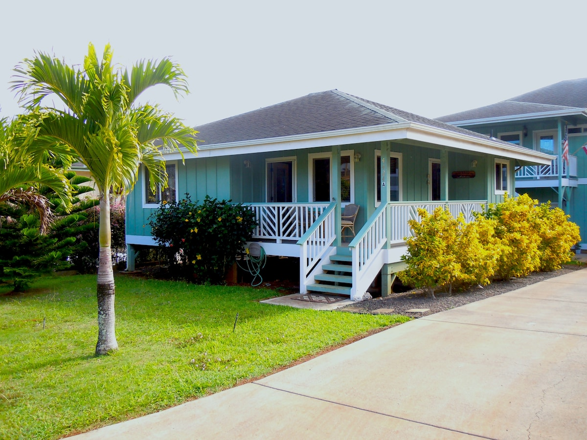 Kalaheo Cottage located on the Sunny South Side of Kauai, near Great Beaches, Hiking Trails, Popular Attractions, Restaurants, & Island Shopping!