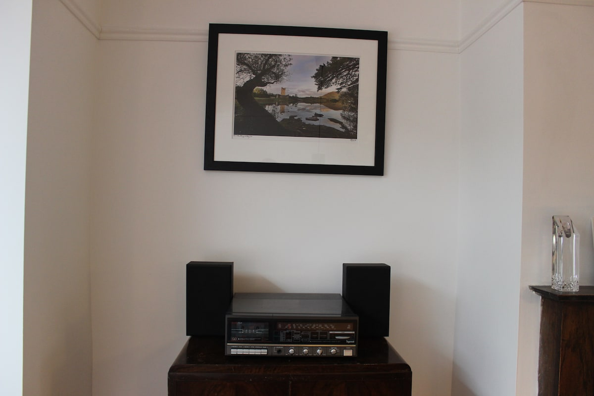 Record player in the living room