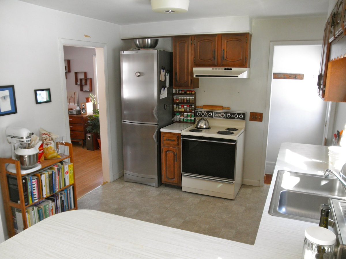 Not the prettiest kitchen, but we make do.