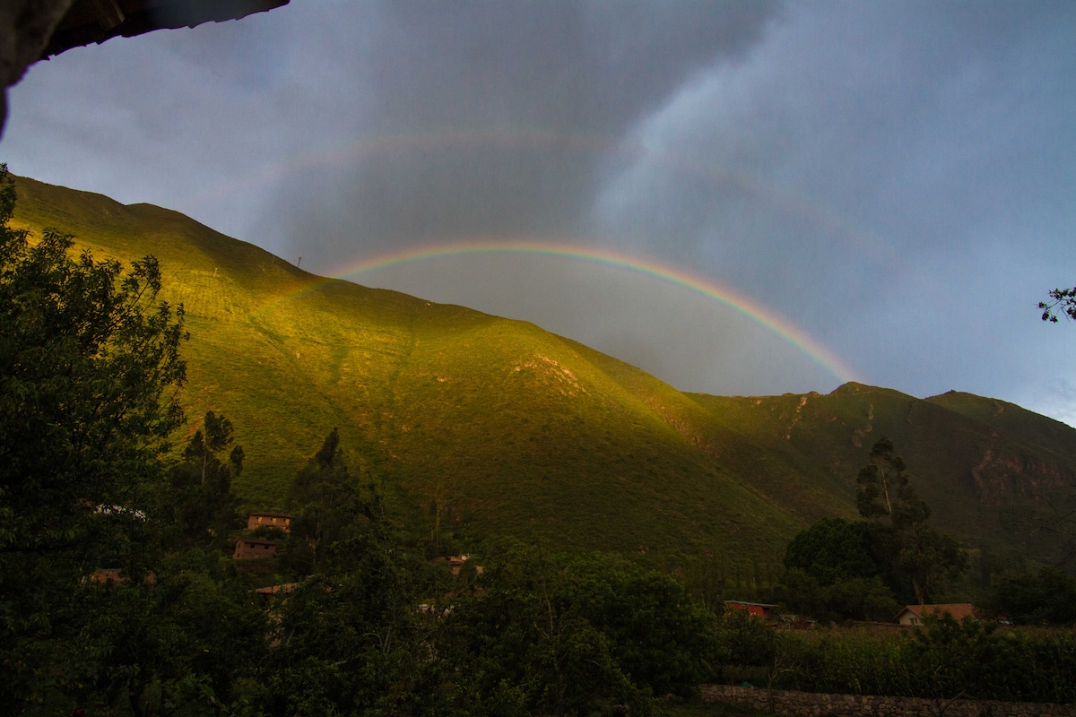 Double rainbow - a common view in the Sacred Valley.