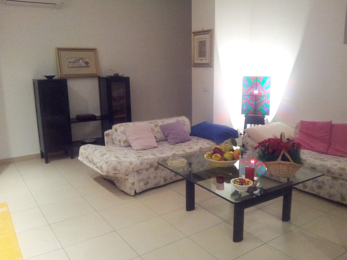 Entrance and Living room with 2 single sofa beds