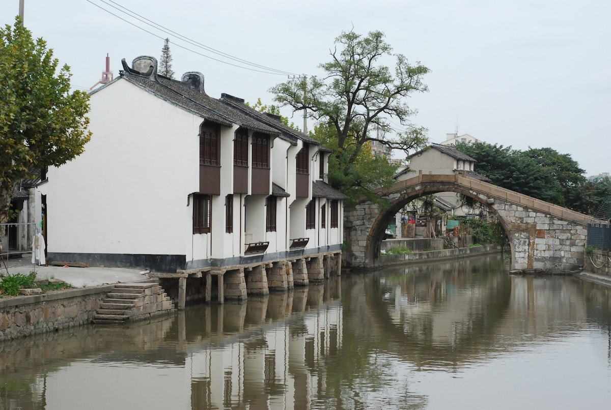 An old street across the river