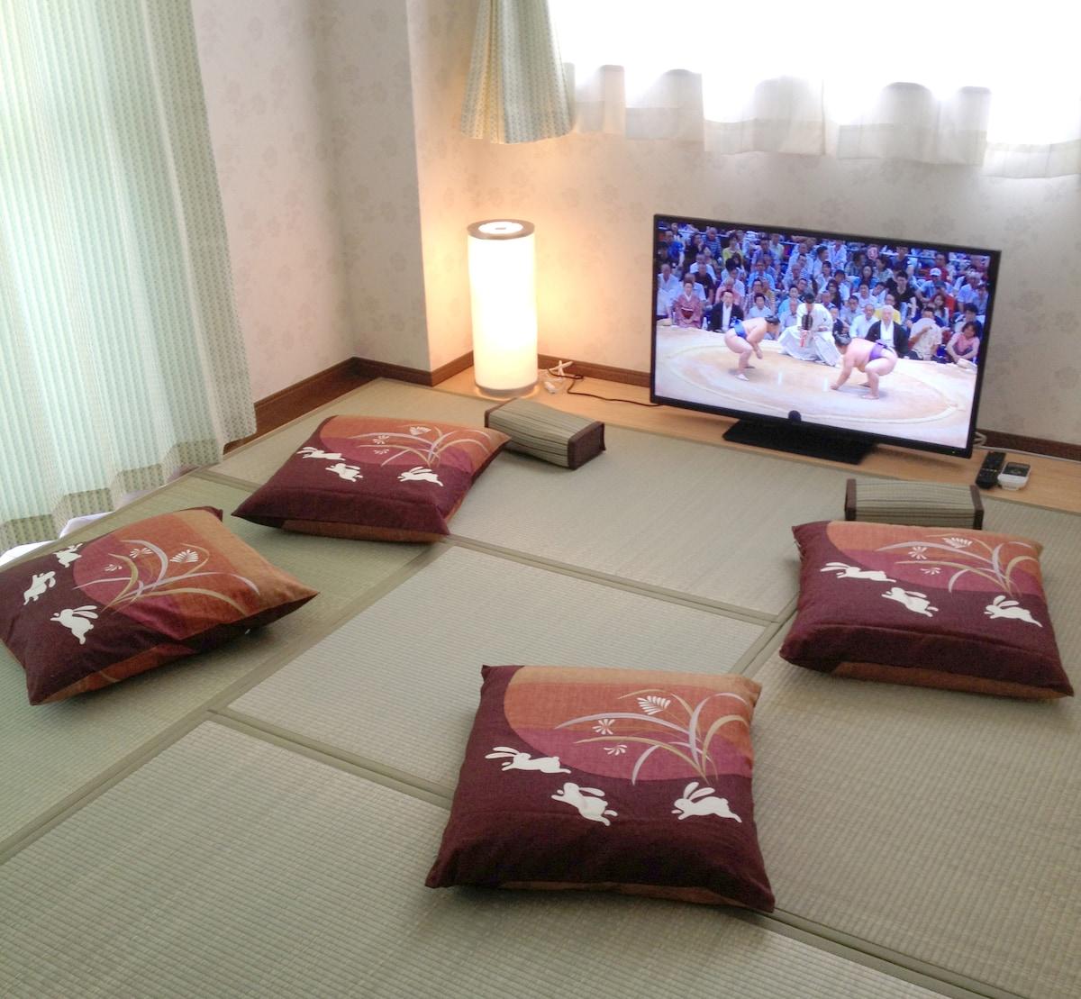 A tatami mat room