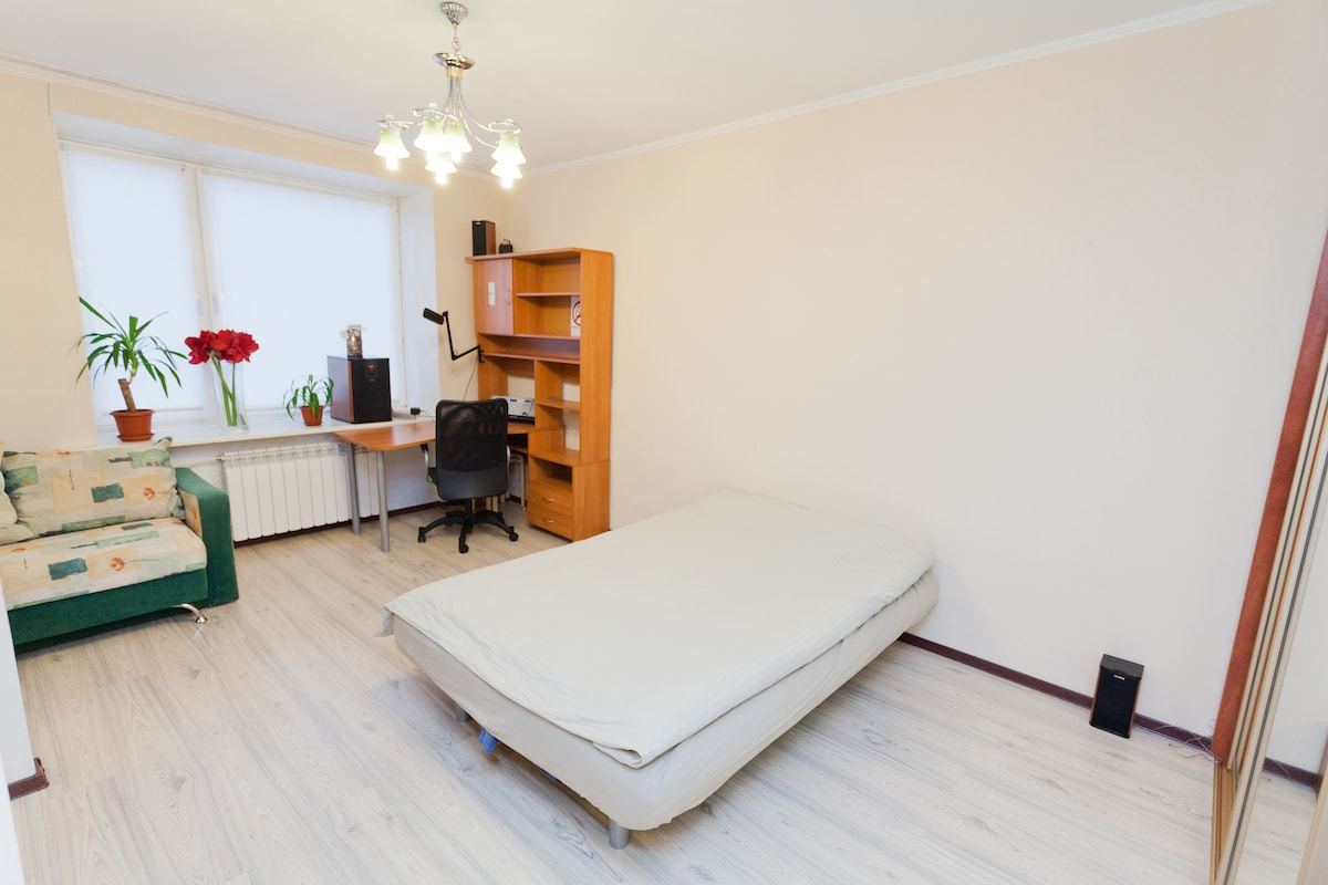 Modern furnished studio in Moscow