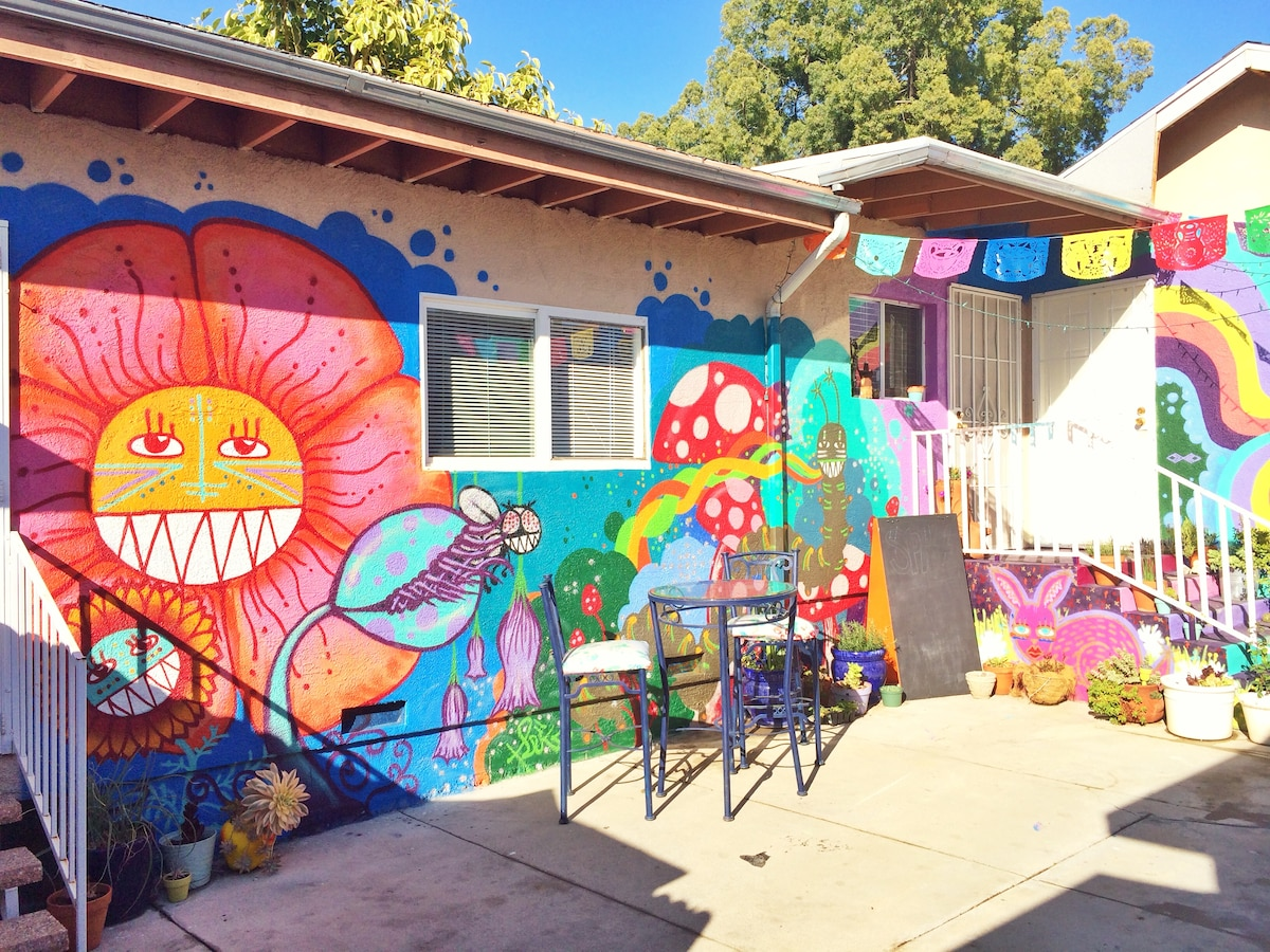 Courtyard murals