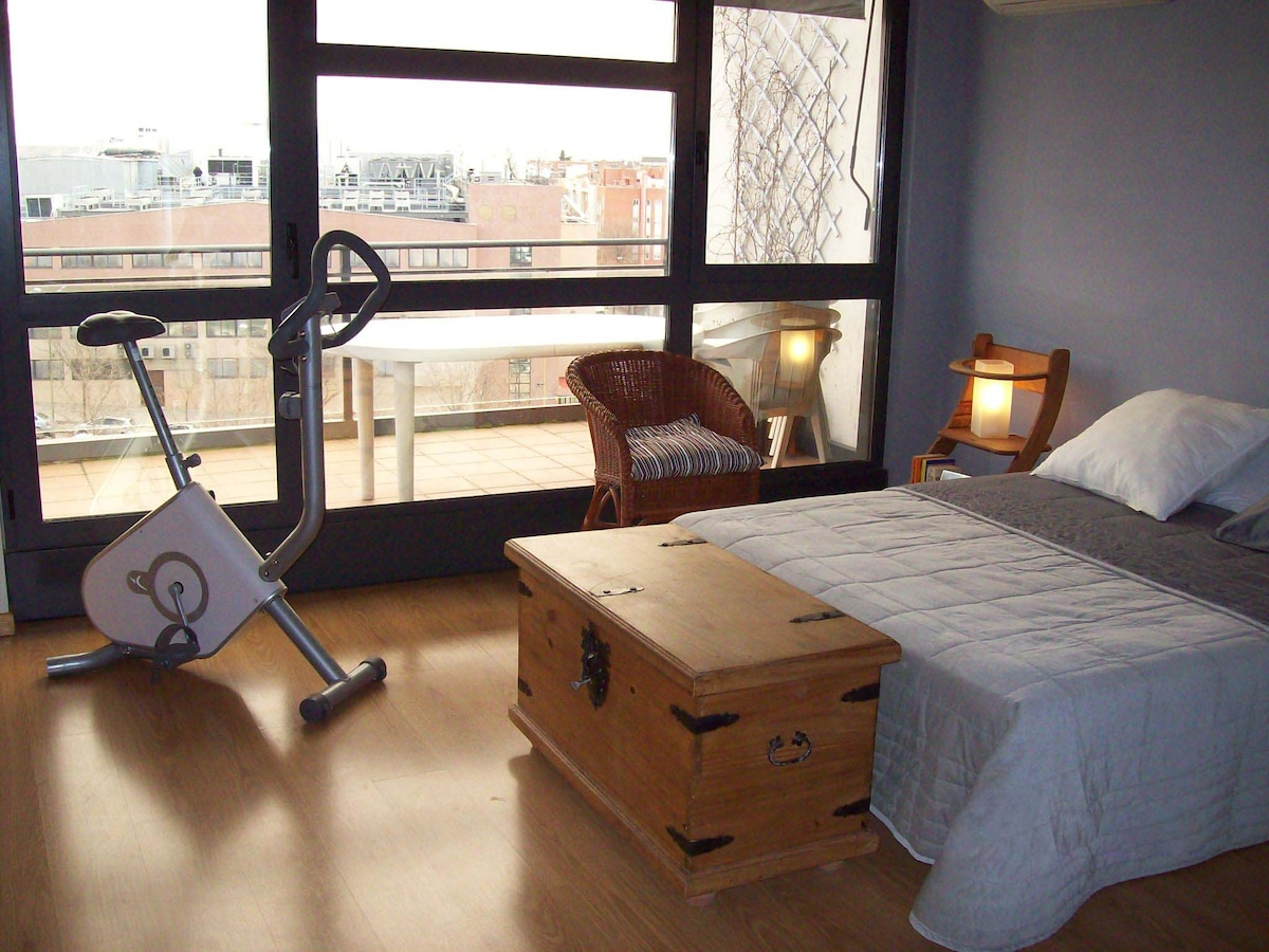 Bedroom and gym!