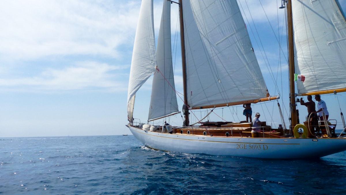 Classic Yacht in Cinque Terre