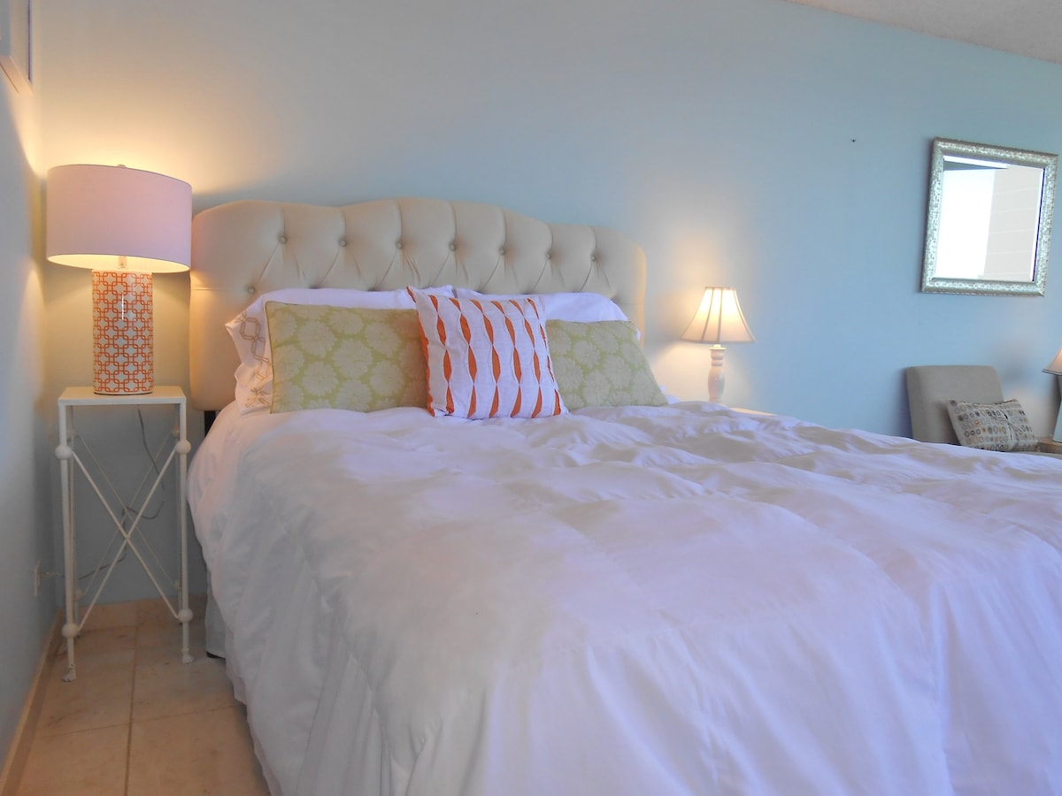 New queen bed with luxury pillow-top mattress