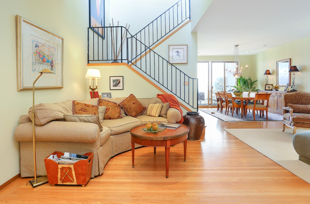 Enjoy spacious living areas, decks and a fabulous water view.