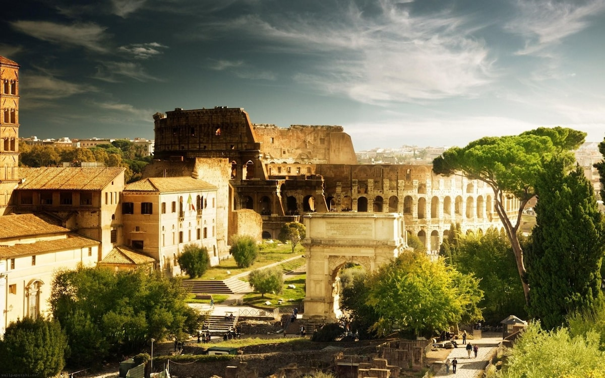100 meters from the Colosseum