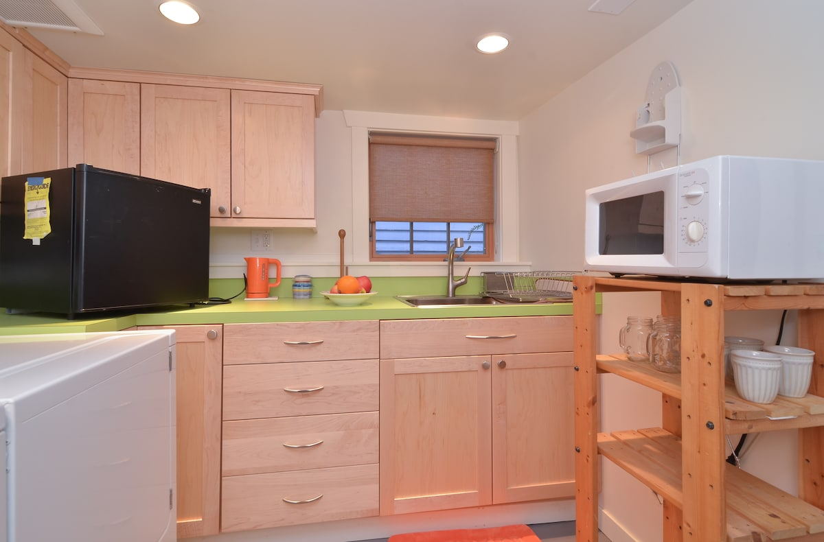 Enjoy a light meal using your kitchenette!