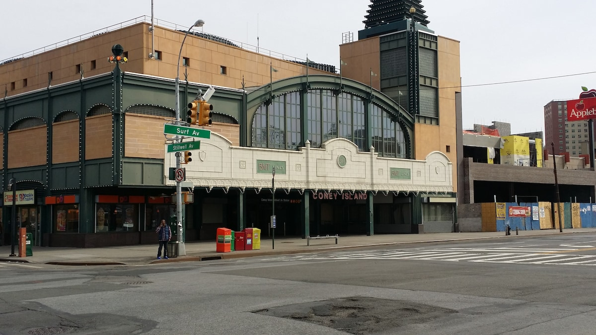 Mass Transit Stillwell Avenue Coney Island the B, F, D, & N lines. We are only 3 block from the subway station