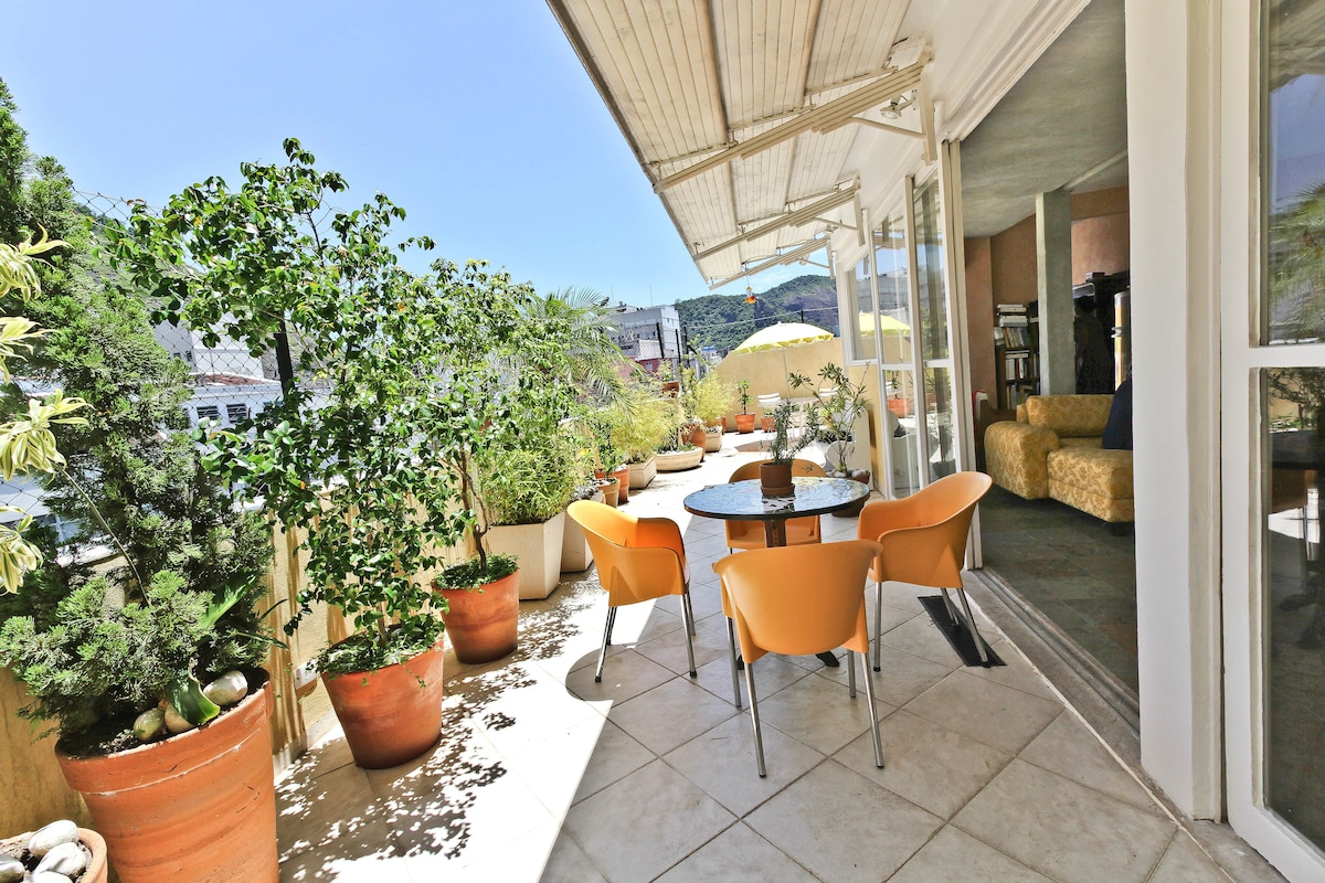 terrace of the penthouse