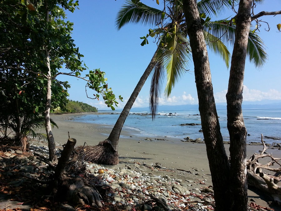 Beach which is normally very private, warm water, gentle waves.