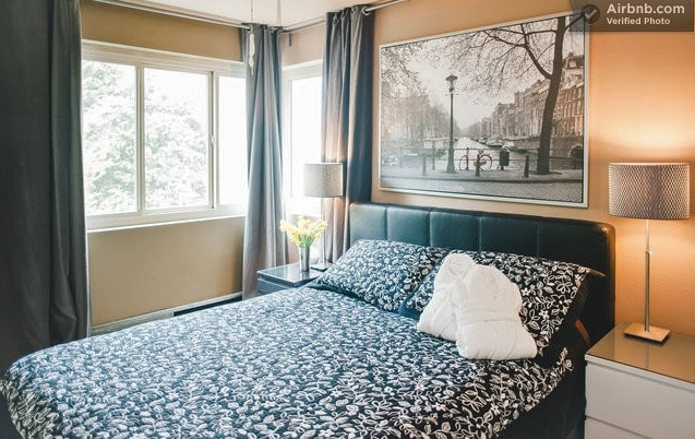 "Master bedroom with queen-size bed, 32"" flat screen, and more amazing views"