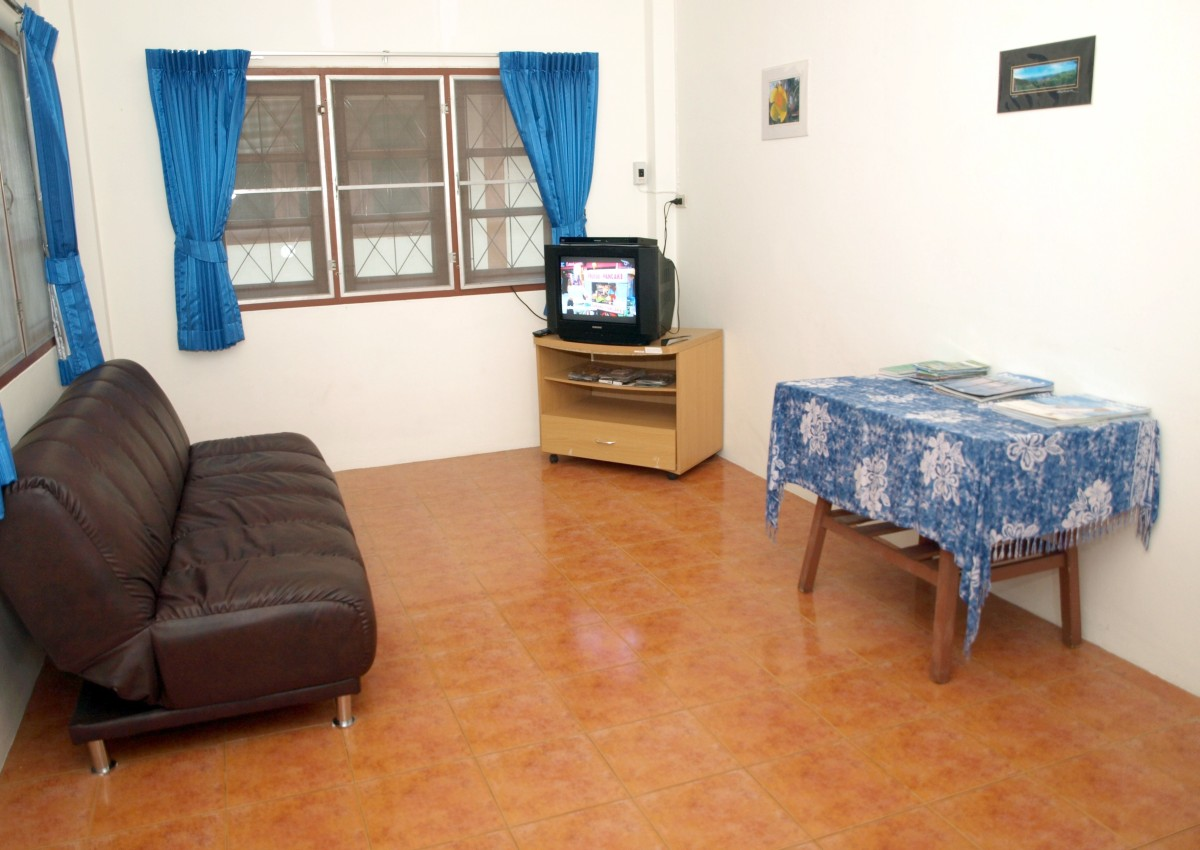 The main room of the house includes a TV with cable,  DVD/CD/MP3 player, brand new curtains with blackout backing for the utmost in privacy.