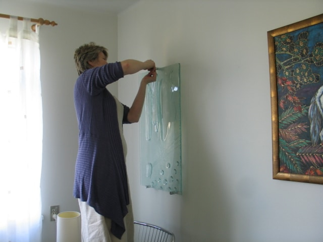 Thats me, installing a glass piece.