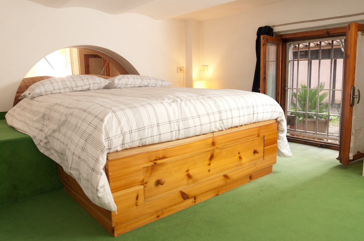 Double bed on the loft