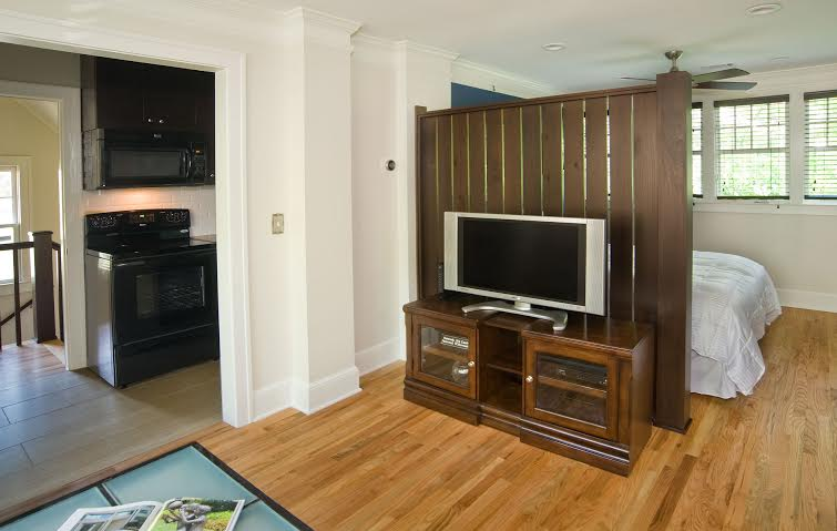 Living room; TV with digital cable and HBO