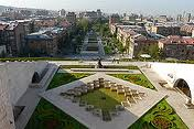 Picture from the stairs overlooking Downtown Yerevan