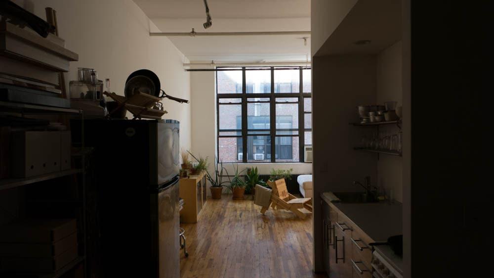 Minimalist loft studio in Bushwick