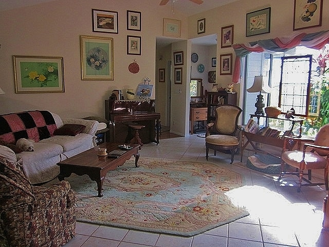 The Living Room bathed in morning sunshine.