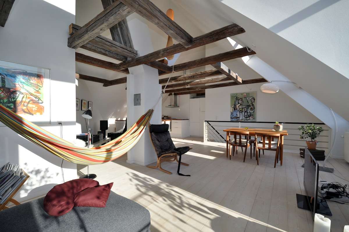 Lovely penthouse in hip Nørrebro