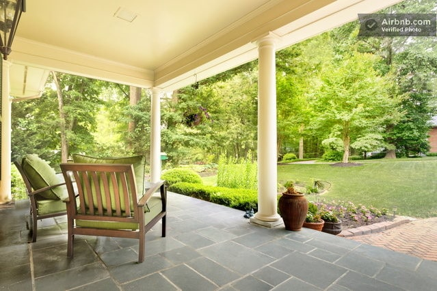Come relax on our front porch and enjoy the wide variety of birds that visit our bird feeders.