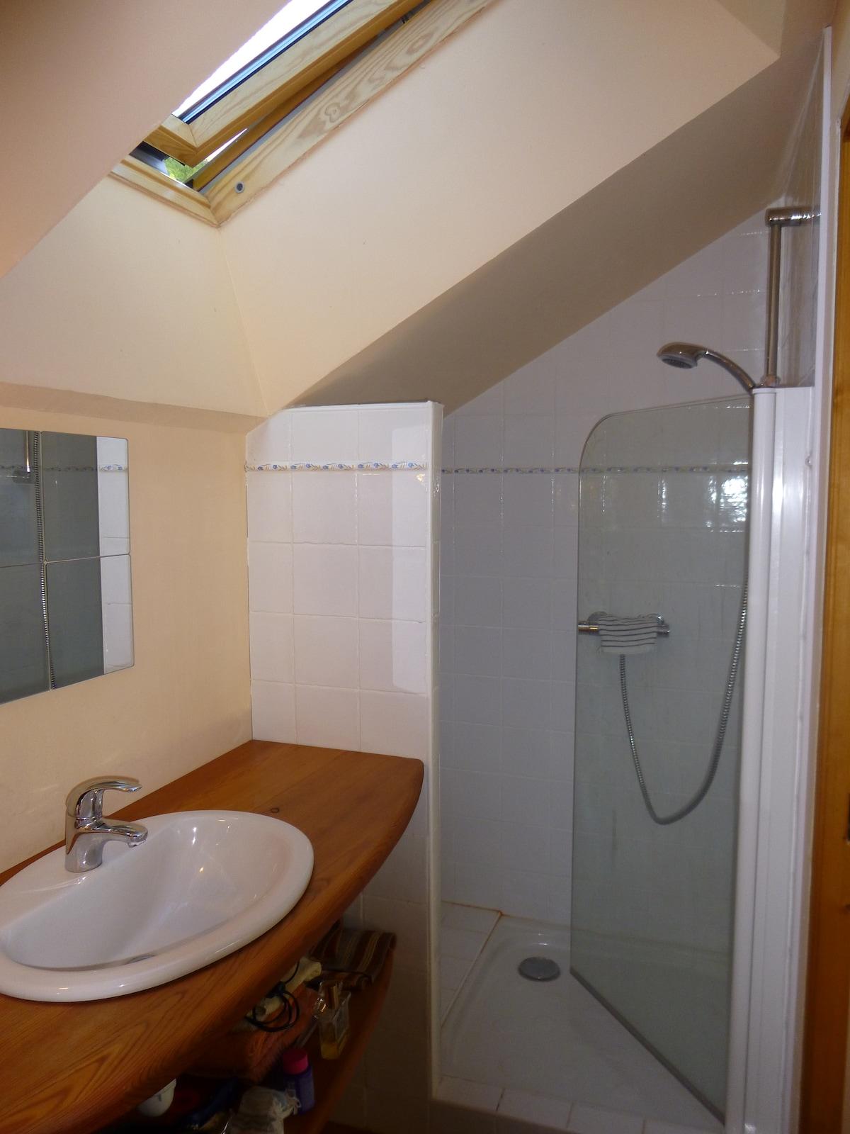 Salle de bain et wc priv for Chambre hote embrun
